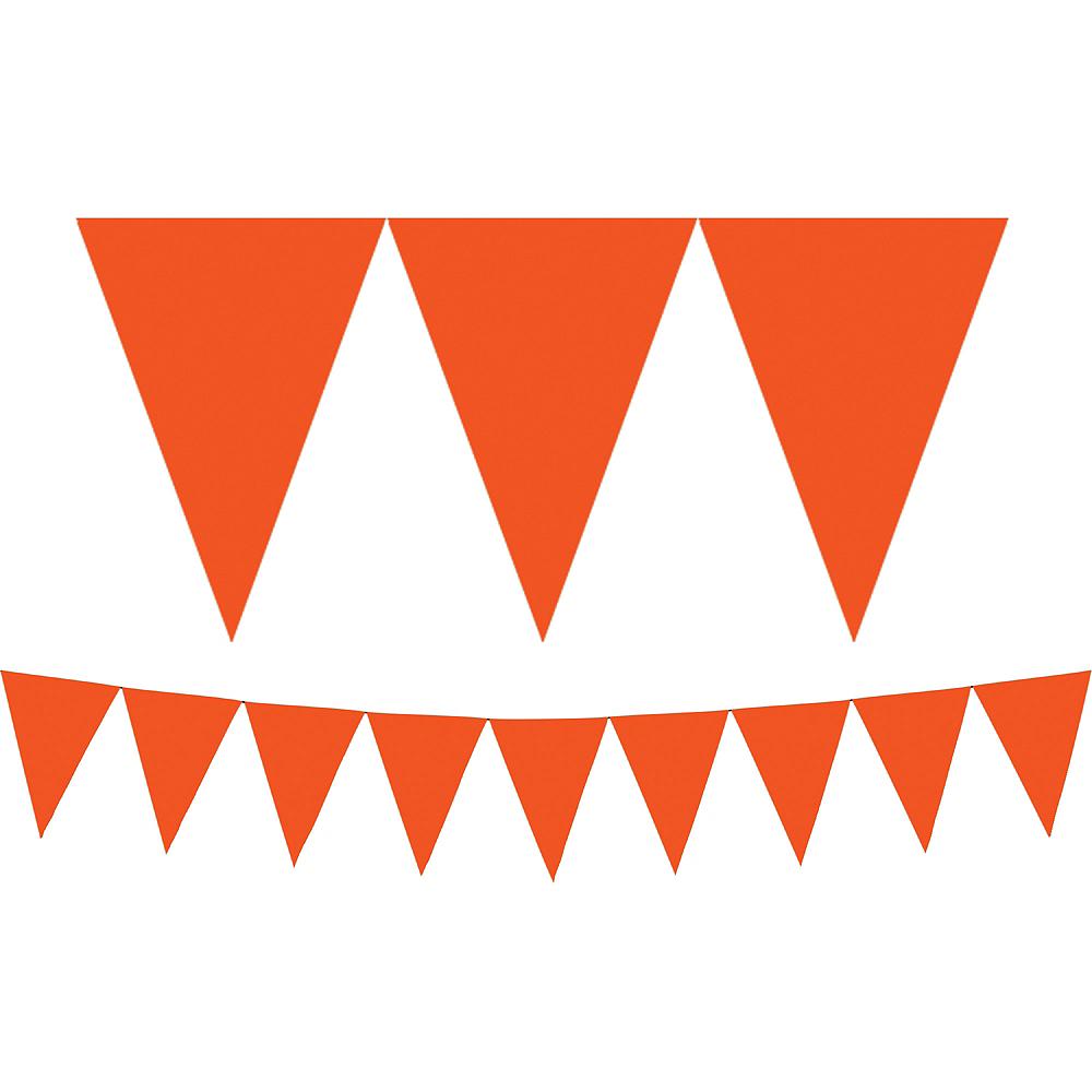 Orange Pennant Banner Image #1