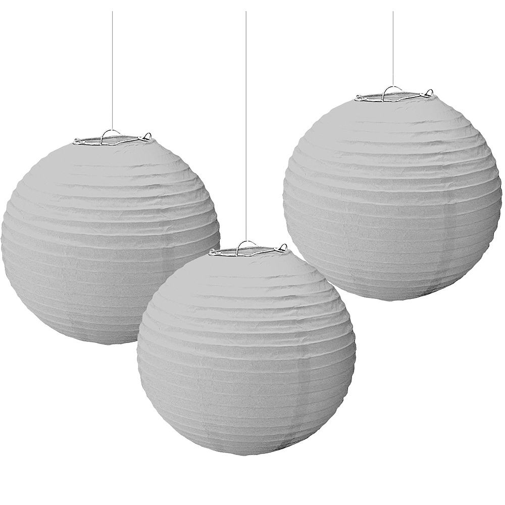 Nav Item for Silver Paper Lanterns 3ct Image #1