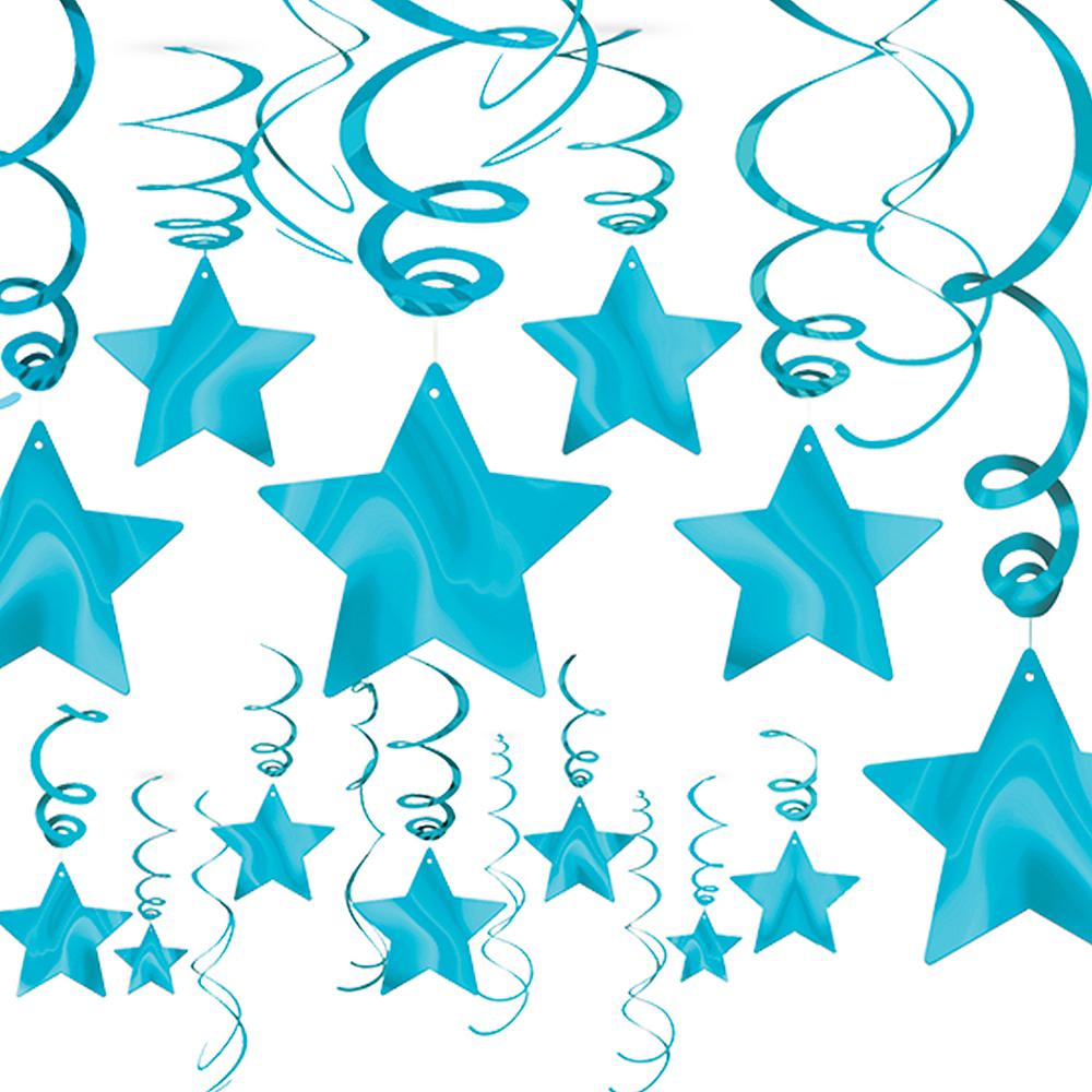 Caribbean Blue Star Swirl Decorations 30ct Image #1