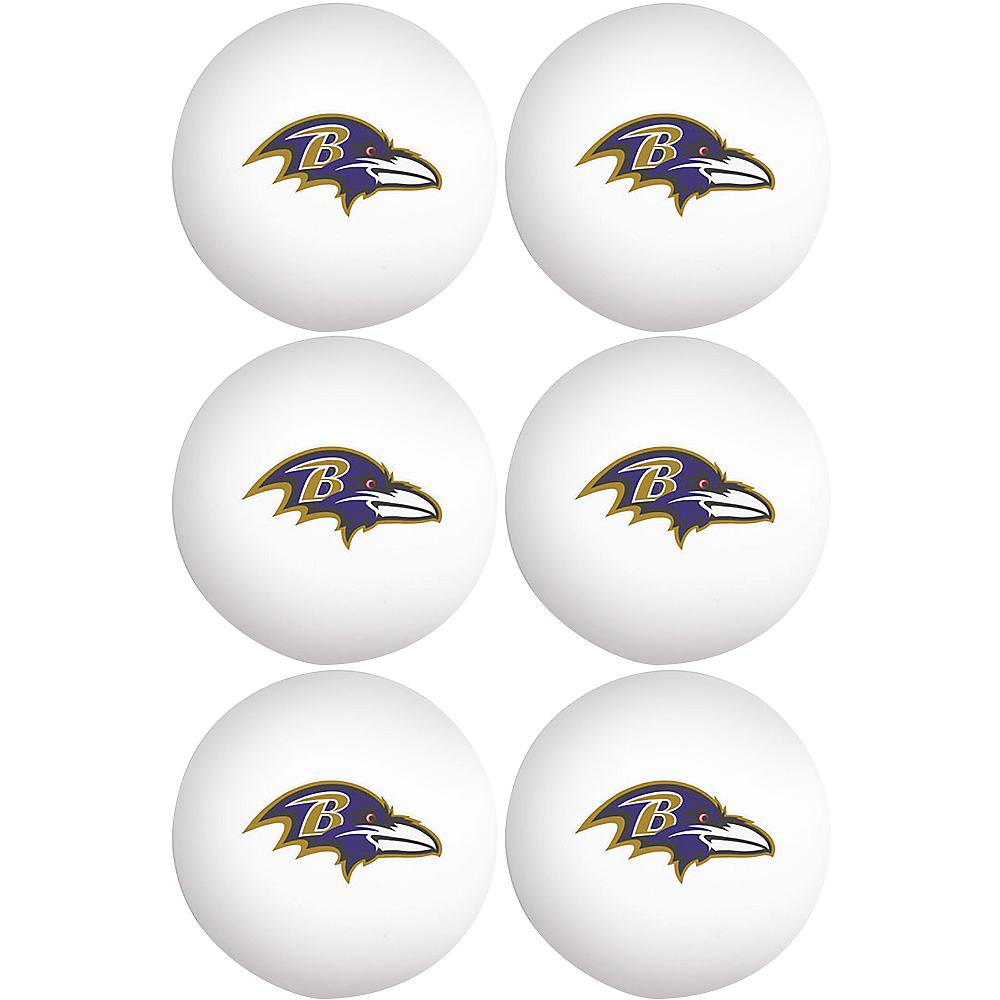 Baltimore Ravens Pong Balls 6ct Image #1