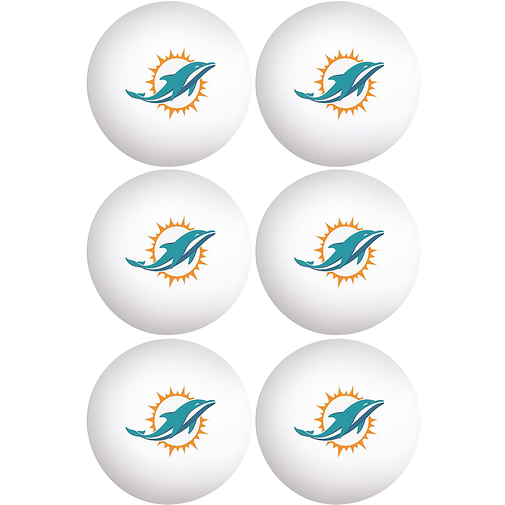 Miami Dolphins Pong Balls 6ct Image #1