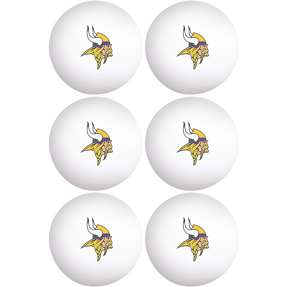 Nav Item for Minnesota Vikings Pong Balls 6ct Image #1