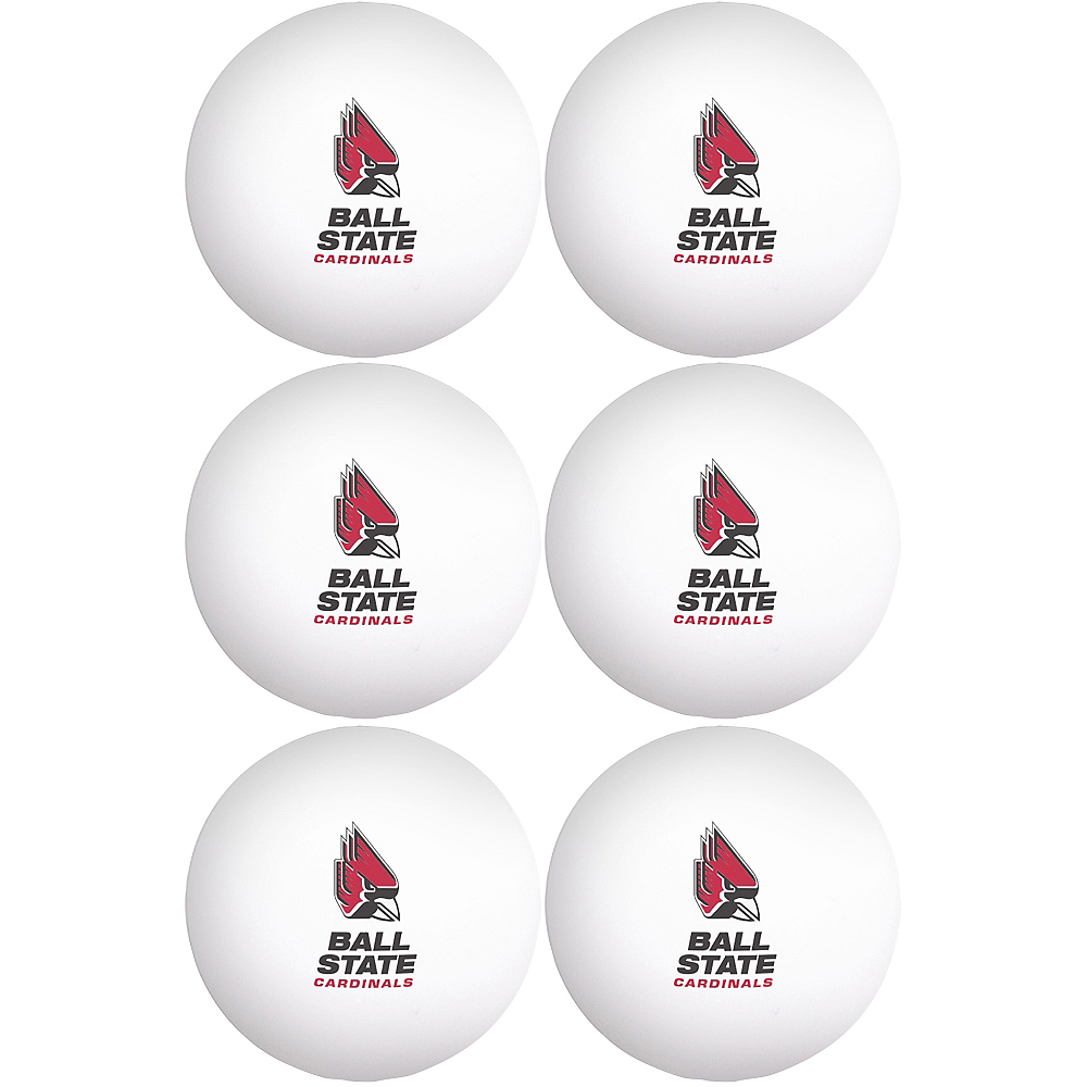 Nav Item for Ball State Cardinals Pong Balls 6ct Image #1
