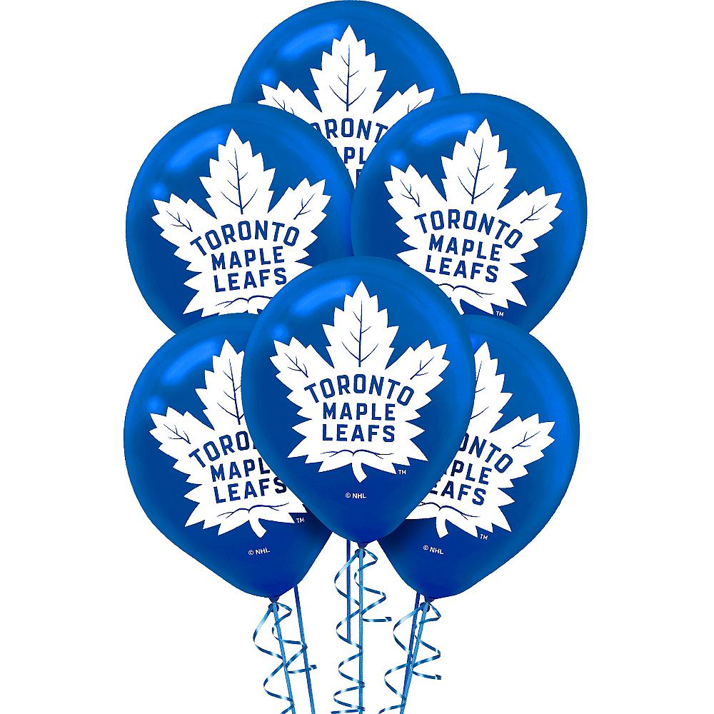 Toronto Maple Leafs Balloons 6ct Image #1