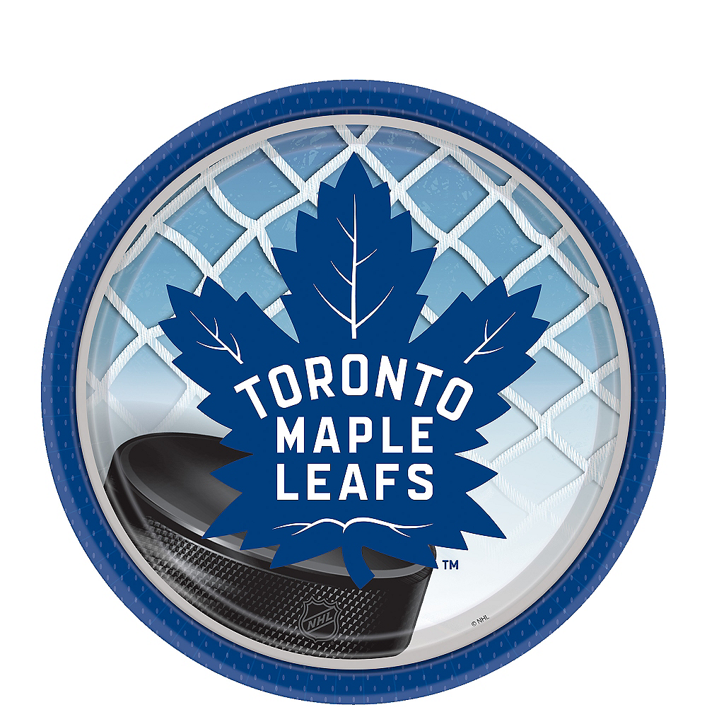 Nav Item for Toronto Maple Leafs Dessert Plates 8ct Image #1