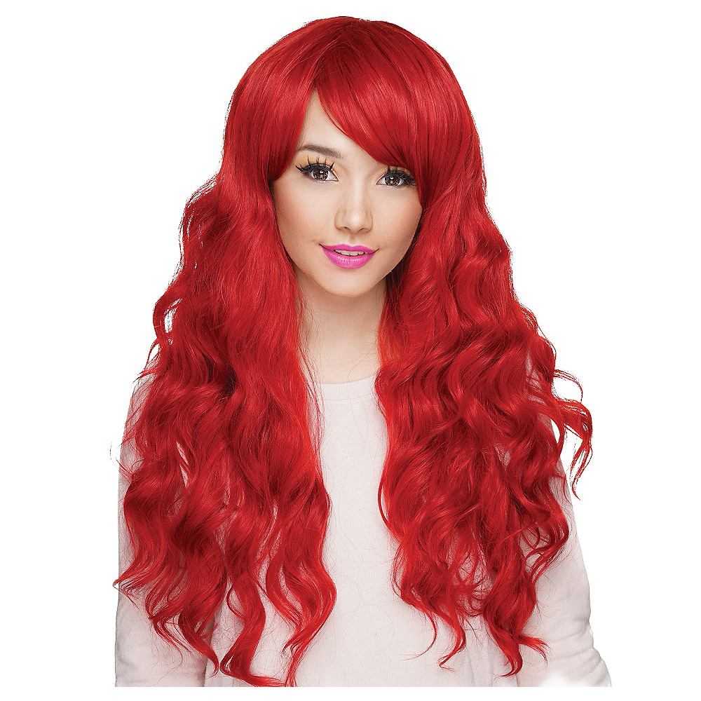 Curly Crimson Red Cosplay Wig Image #1