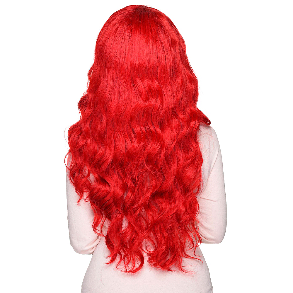 Curly Crimson Red Cosplay Wig Image #2