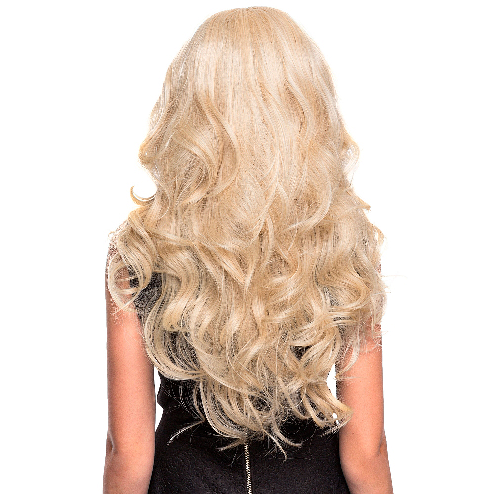 Curly Blonde Bombshell Farrah Cosplay Wig 28in Party