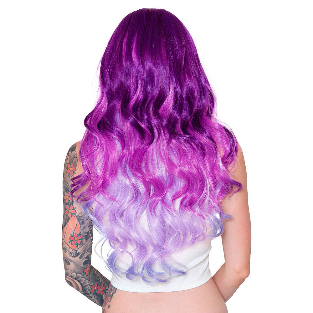 Curly Purple Possession Ombre Cosplay Wig Image #2