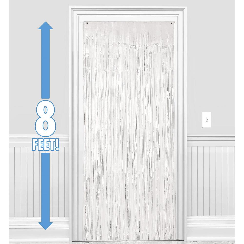 White Fringe Doorway Curtain Image #1