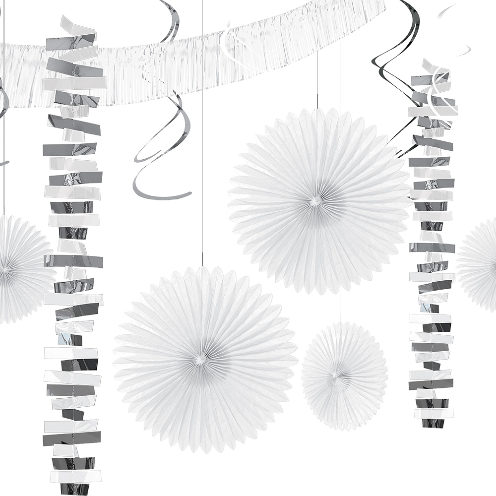 White & Silver Decorating Kit 18pc Image #1