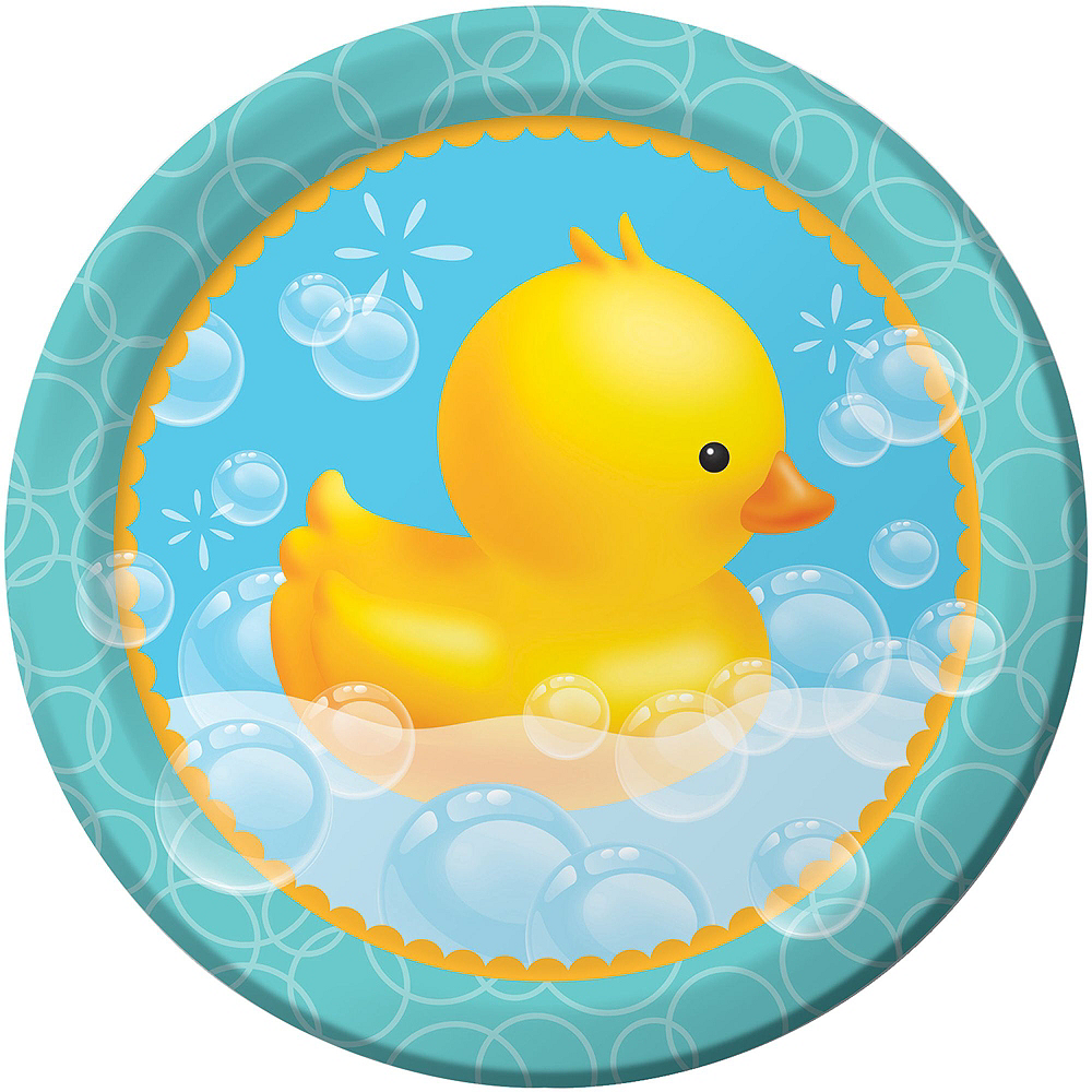 Rubber Ducky Baby Shower Tableware Kit For 16 Guests