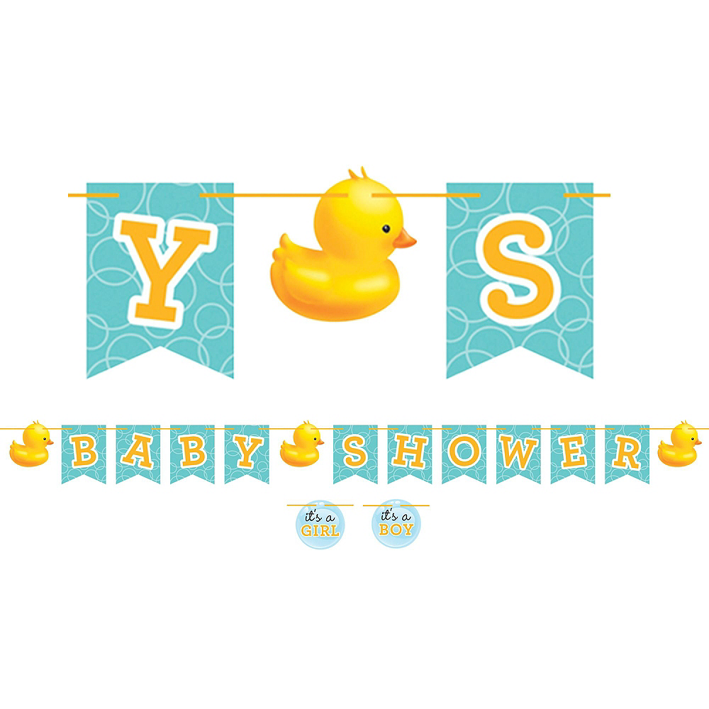 Rubber Ducky Baby Shower Tableware Kit for 16 Guests Image #10