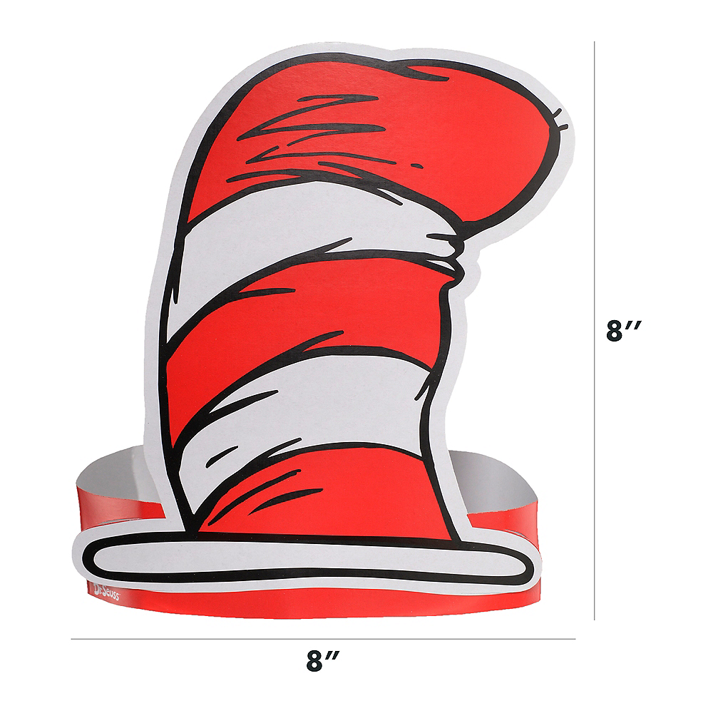 Cat in the Hat Paper Hats 36ct - Dr. Seuss Image #4