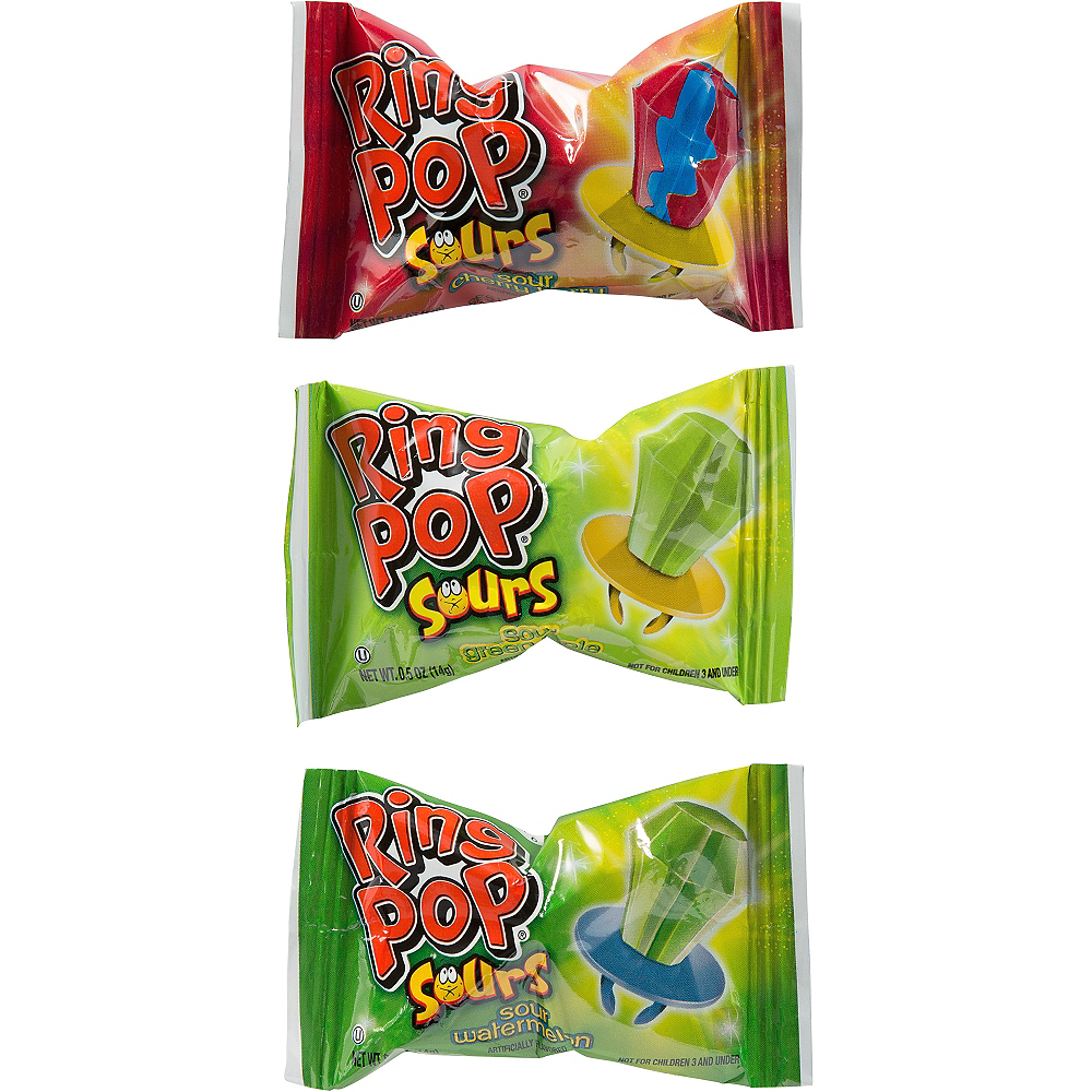 Nav Item for Topps Sour Ring Pops Candy 10ct Image #3