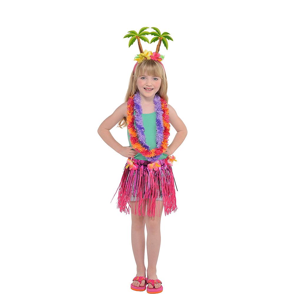 Child Floral Luau Costume Accessory Kit Image #1