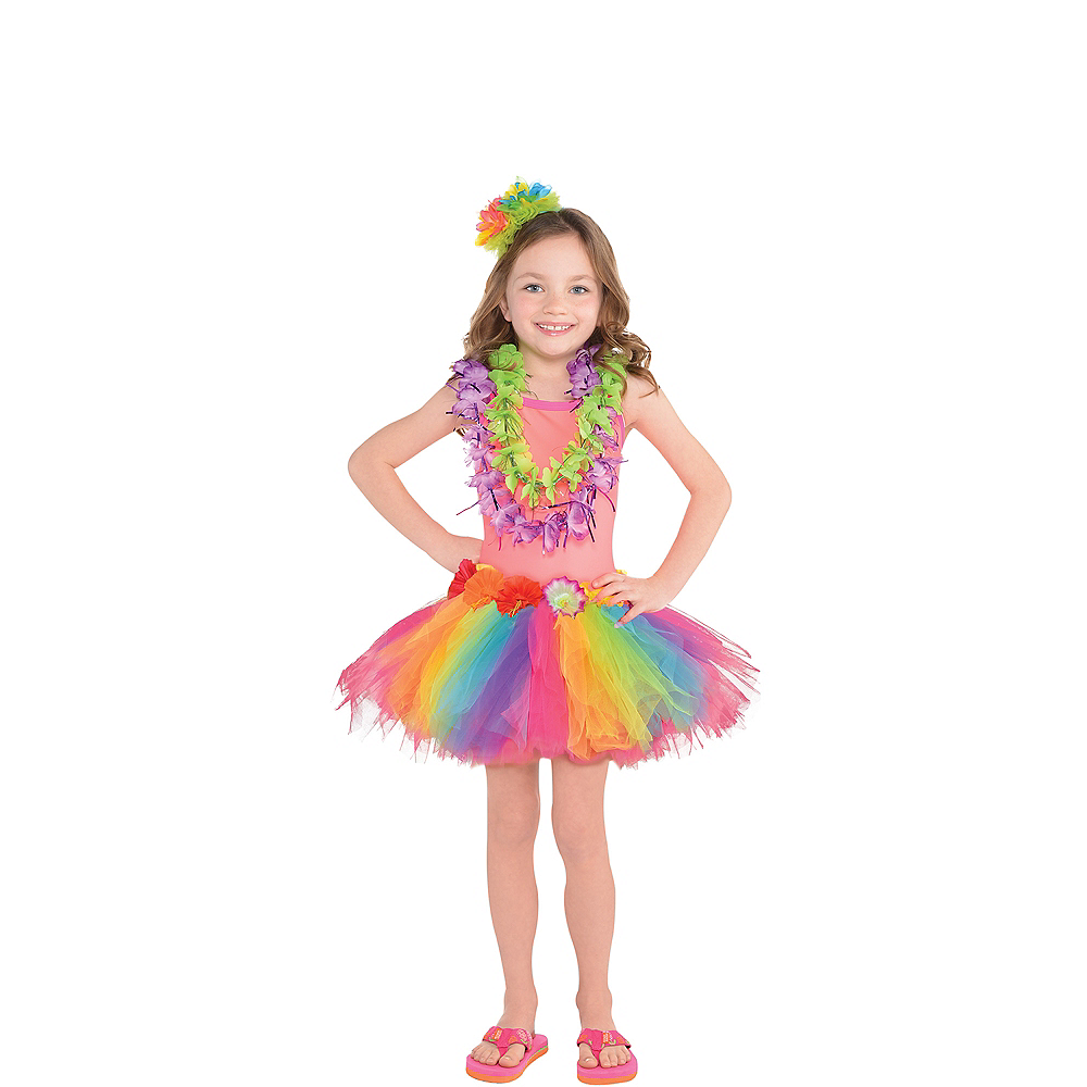 Child Neon Luau Costume Accessory Kit Image #1