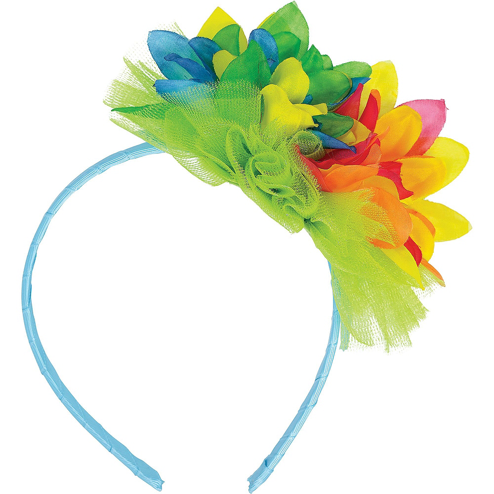 Child Neon Luau Costume Accessory Kit Image #4