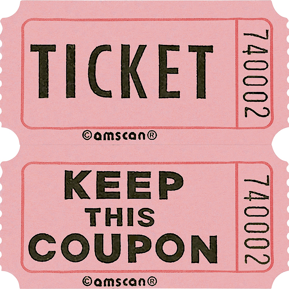 Pink Double Roll Raffle Tickets 2000ct Image #1