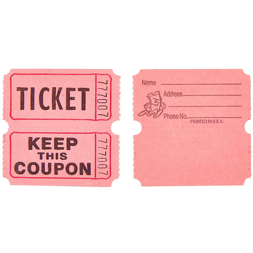 Pink Double Roll Raffle Tickets 2000ct Image #3