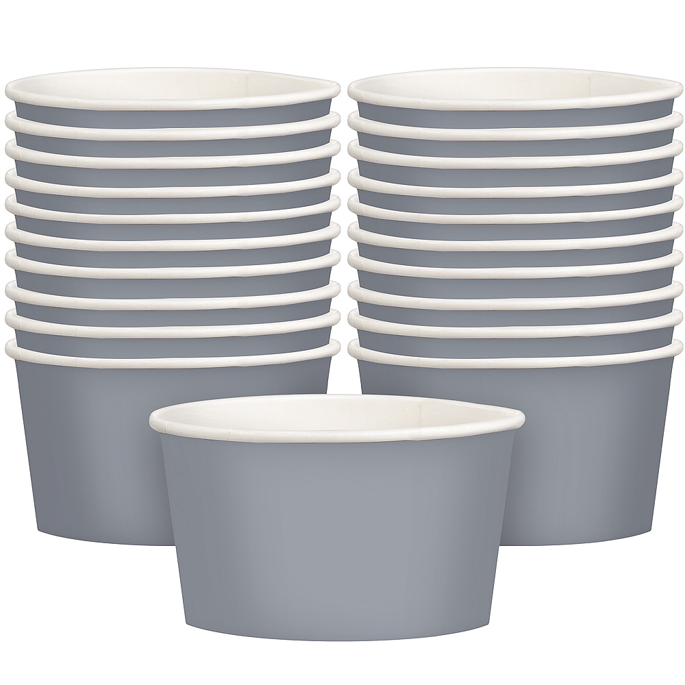 Silver Treat Cups 20ct Image #1
