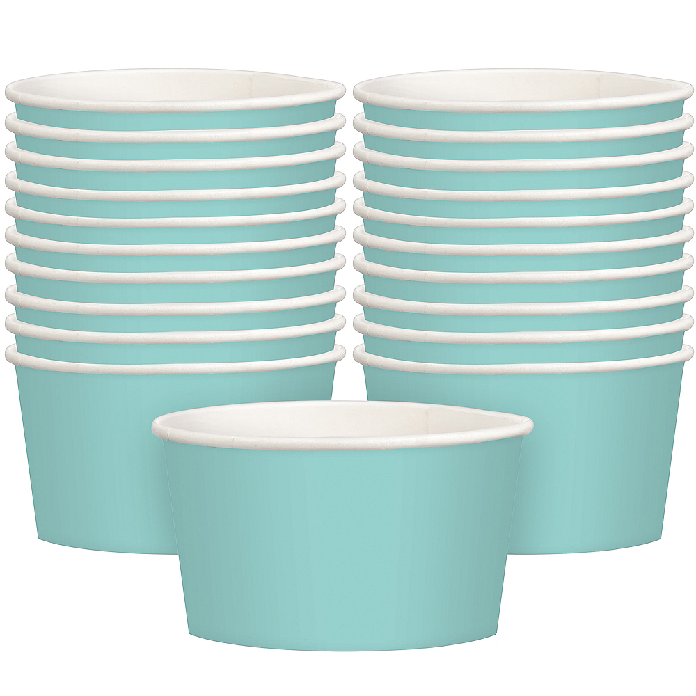 Robin's Egg Blue Treat Cups 20ct Image #1