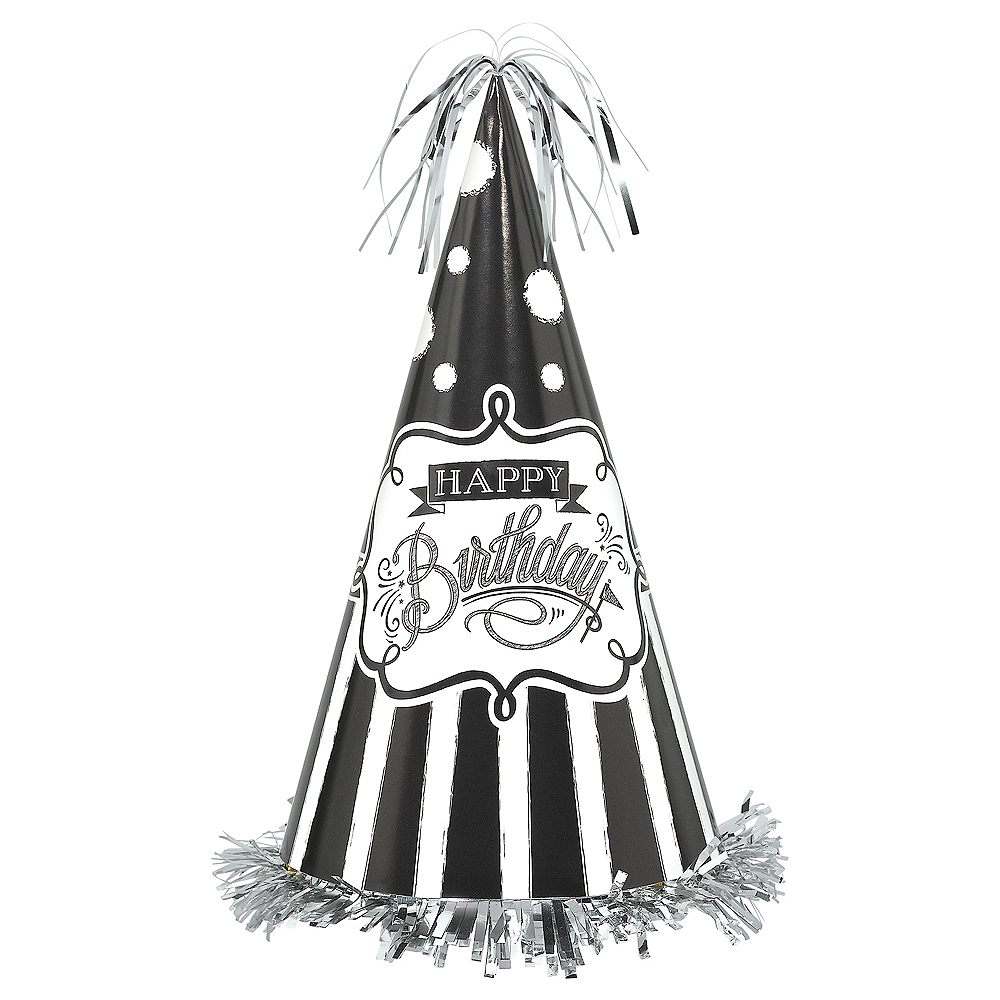 Chalkboard Dots Birthday Party Hat Image #1