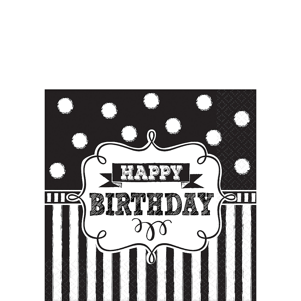 Nav Item for Chalkboard Birthday Beverage Napkins 16ct Image #1