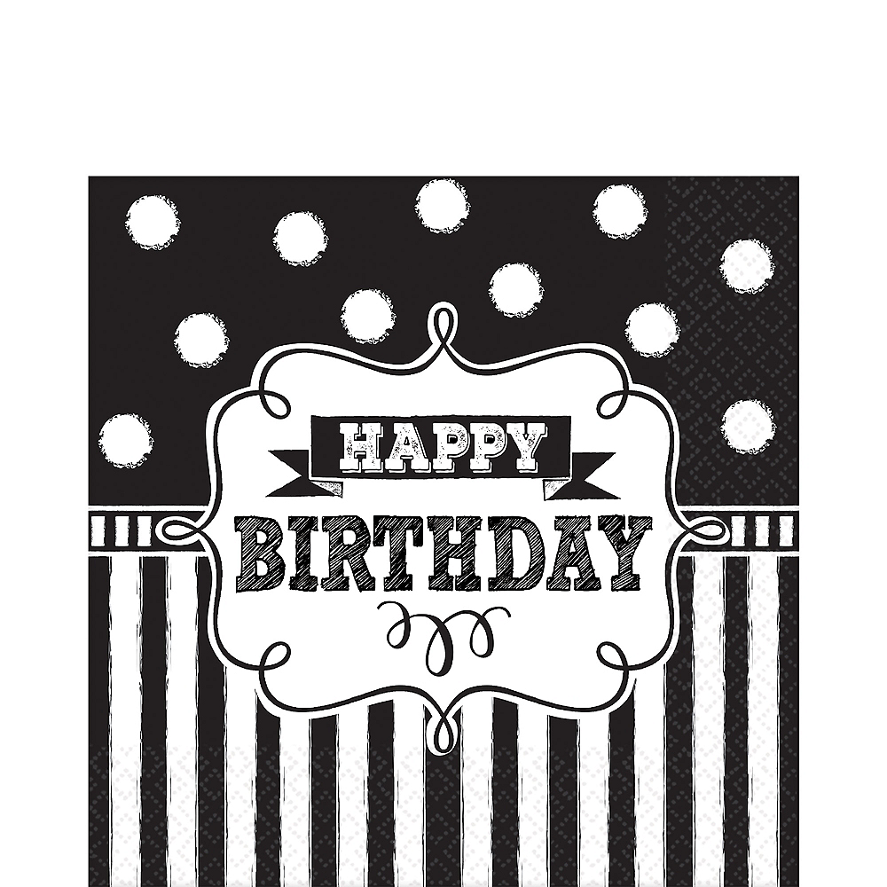 Chalkboard Birthday Lunch Napkins 16ct Image #1