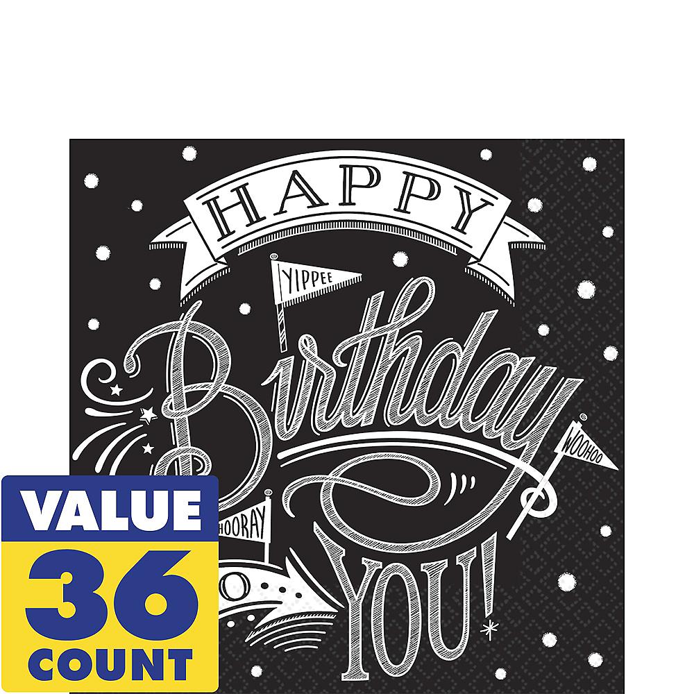 Chalkboard Dots Birthday Lunch Napkins 36ct Image #1