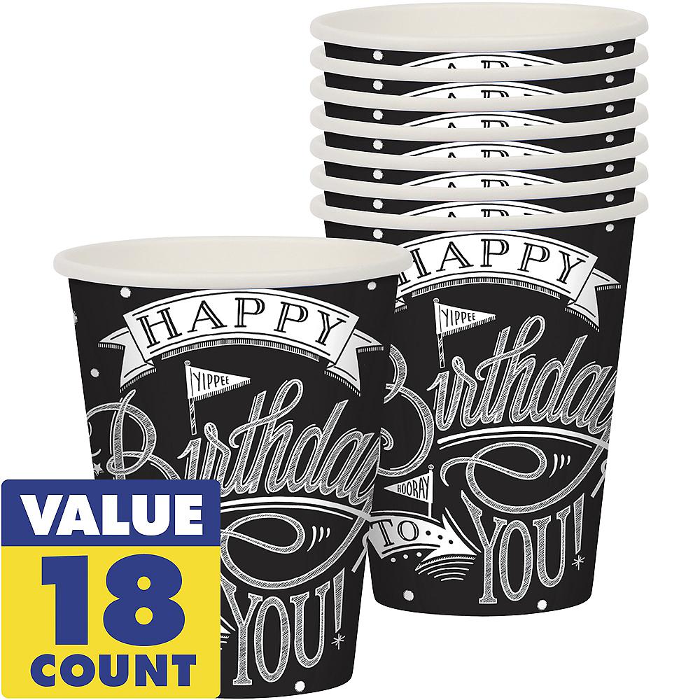 Chalkboard Dots Birthday Cups 18ct Image #1
