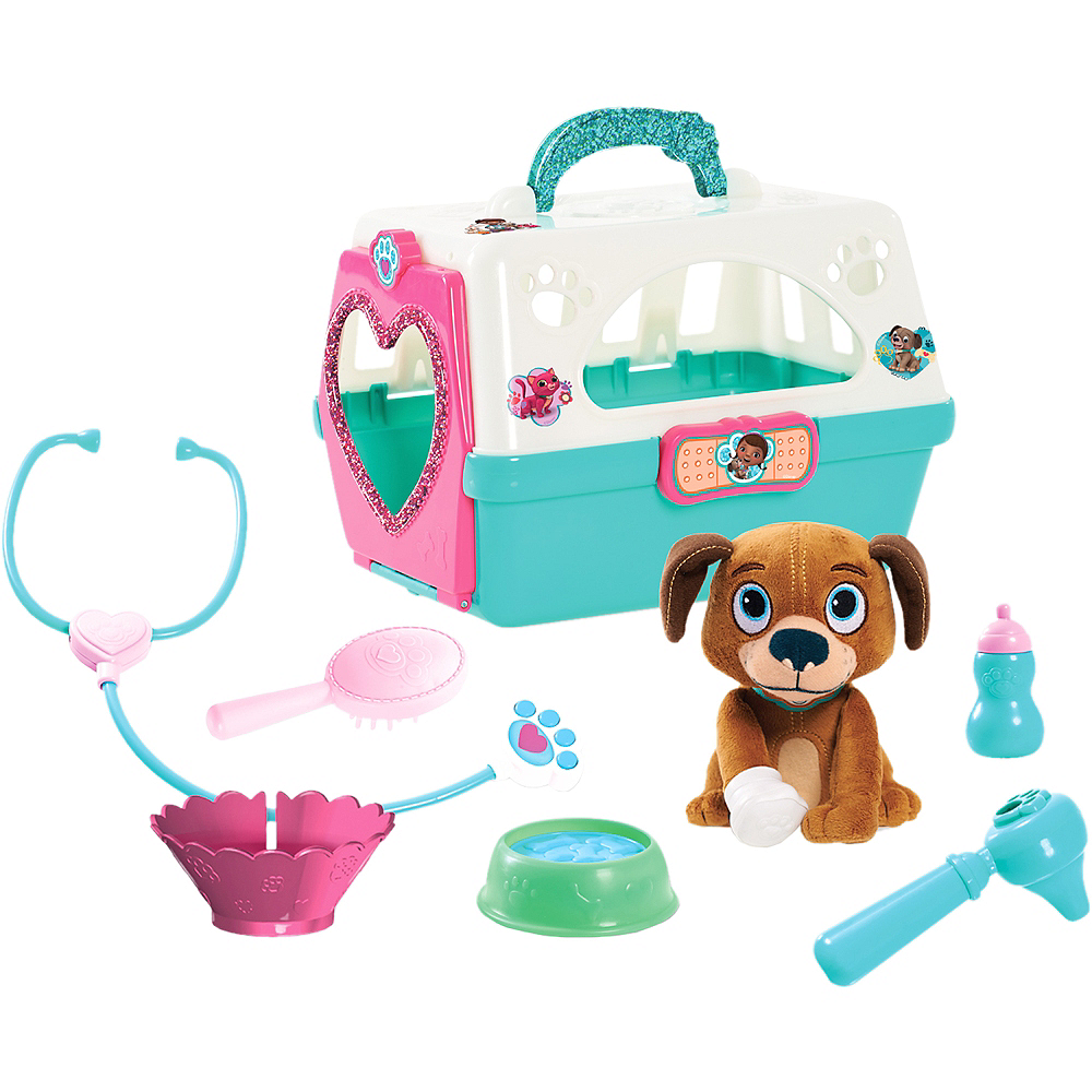 Doc McStuffins Pet Carrier with Plush Dog Playset 9pc Image #1