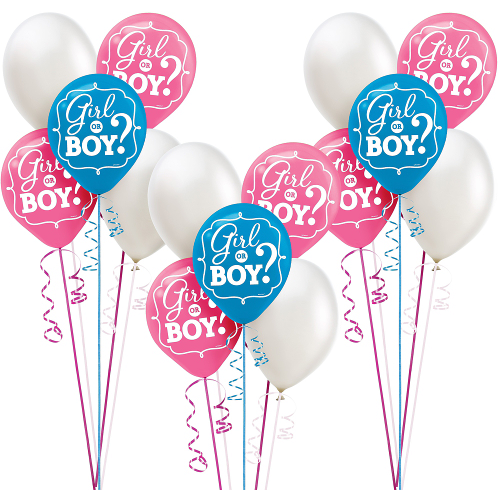 Girl or Boy Gender Reveal Party Balloon Kit 30ct Image #1