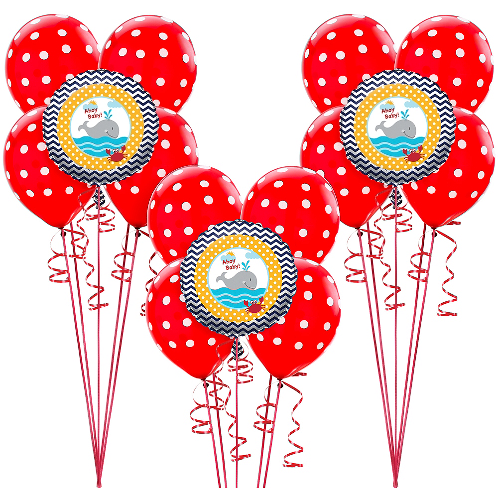 Ahoy Nautical Baby Balloon Kit Image #1