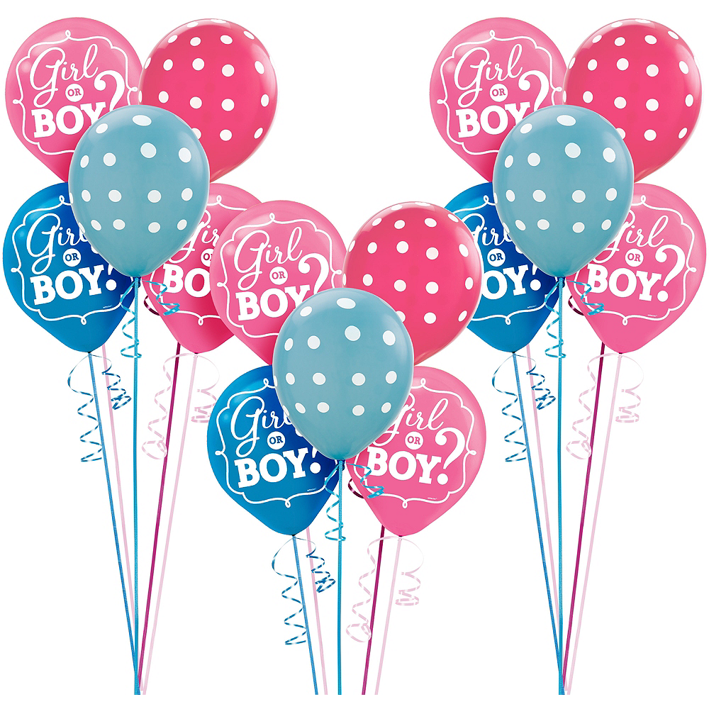 Girl or Boy Gender Reveal Party Balloon Kit 27ct Image #1