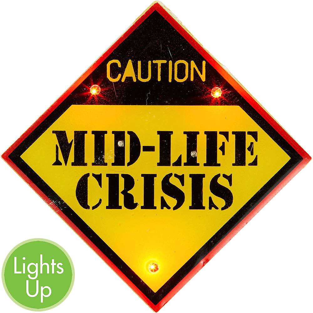 Light-Up Midlife Crisis Button Image #1