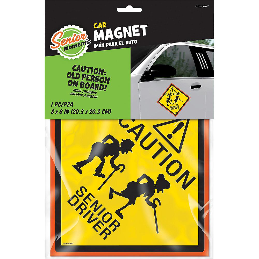 Senior Driver Car Magnet Image #2