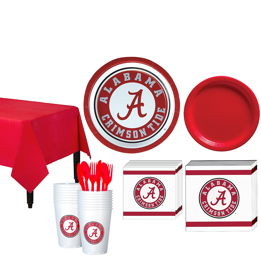 Alabama Crimson Tide Party Kit for 16 Guests Image #1