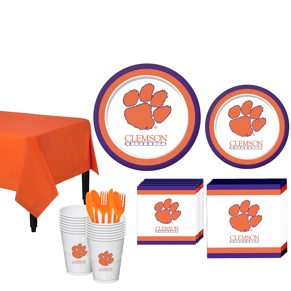 Clemson Tigers Party Kit for 16 Guests Image #1