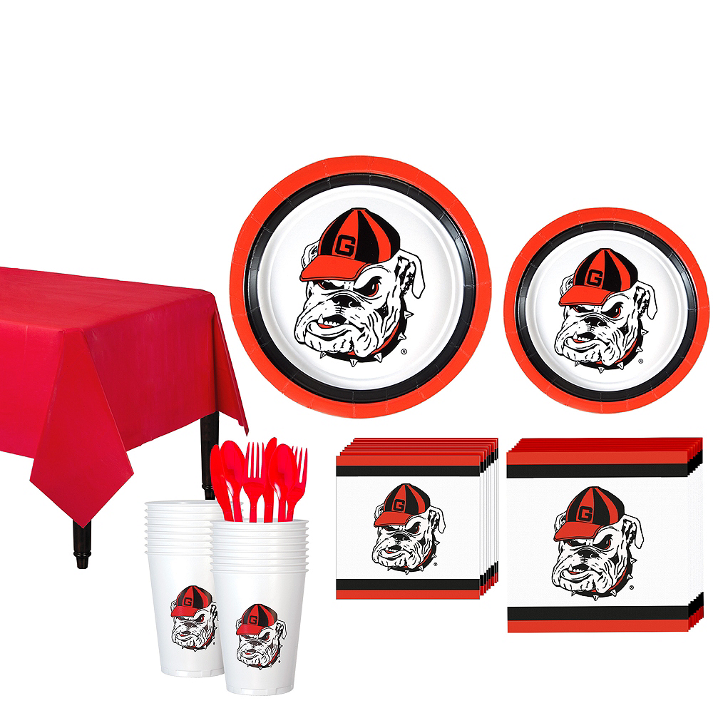 Georgia Bulldogs Party Kit for 16 Guests Image #1