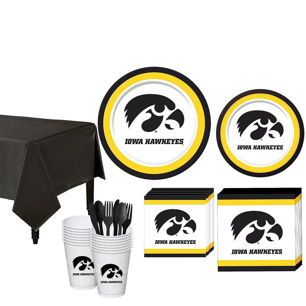 Iowa Hawkeyes Party Kit for 16 Guests Image #1