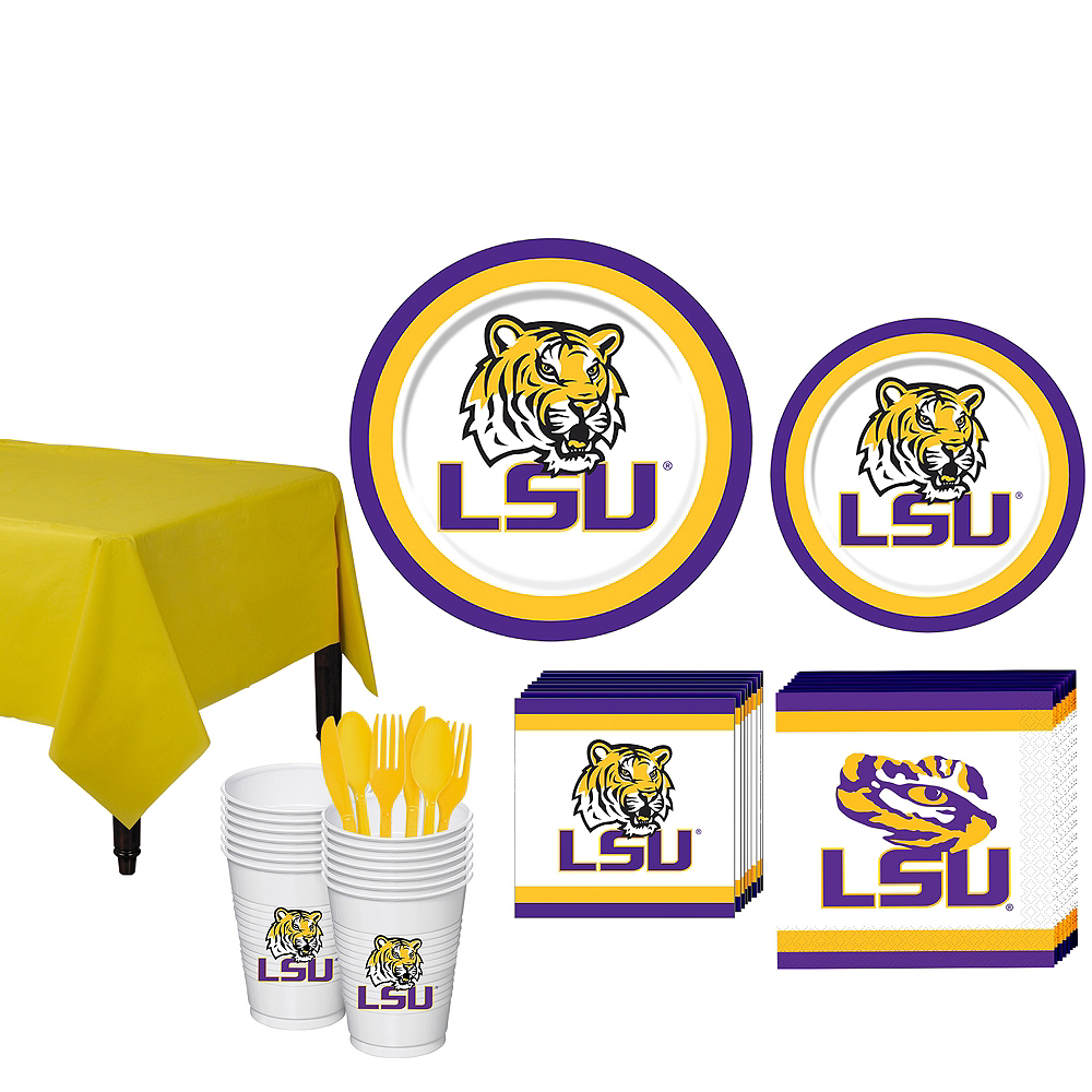 Louisiana State Tigers Party Kit for 16 Guests Image #1