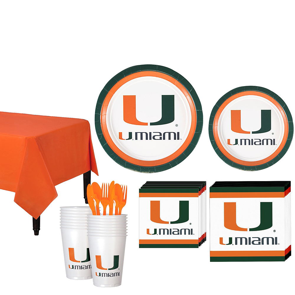 Nav Item for Miami Hurricanes Party Kit for 16 Guests Image #1