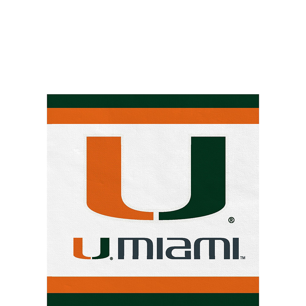 Nav Item for Miami Hurricanes Party Kit for 16 Guests Image #4