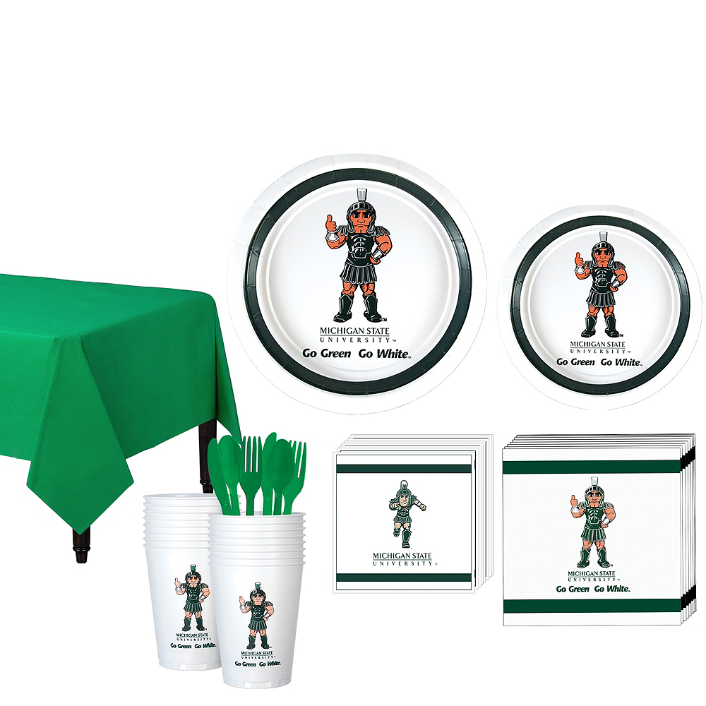 Michigan State Spartans Party Kit for 16 Guests Image #1