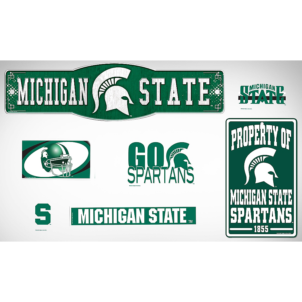 Michigan State Spartans Dorm Room Kit Image #1