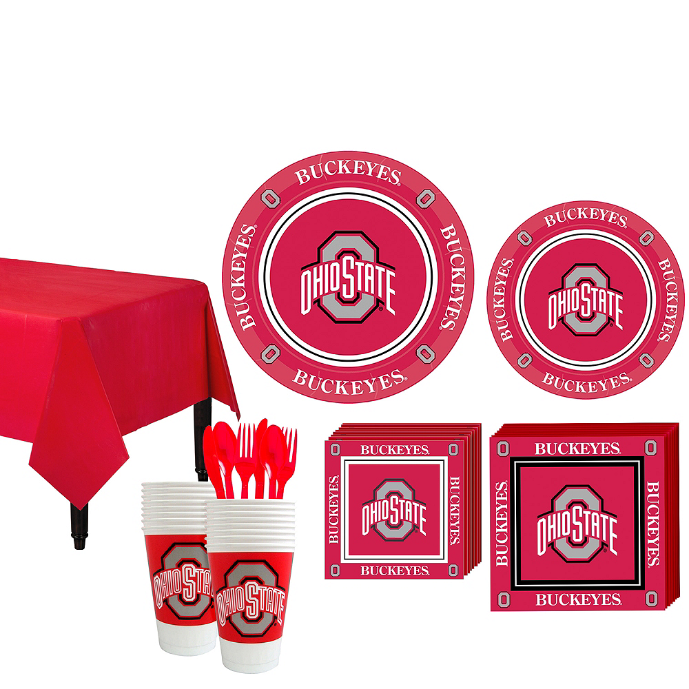 Ohio State Buckeyes Party Kit for 16 Guests Image #1