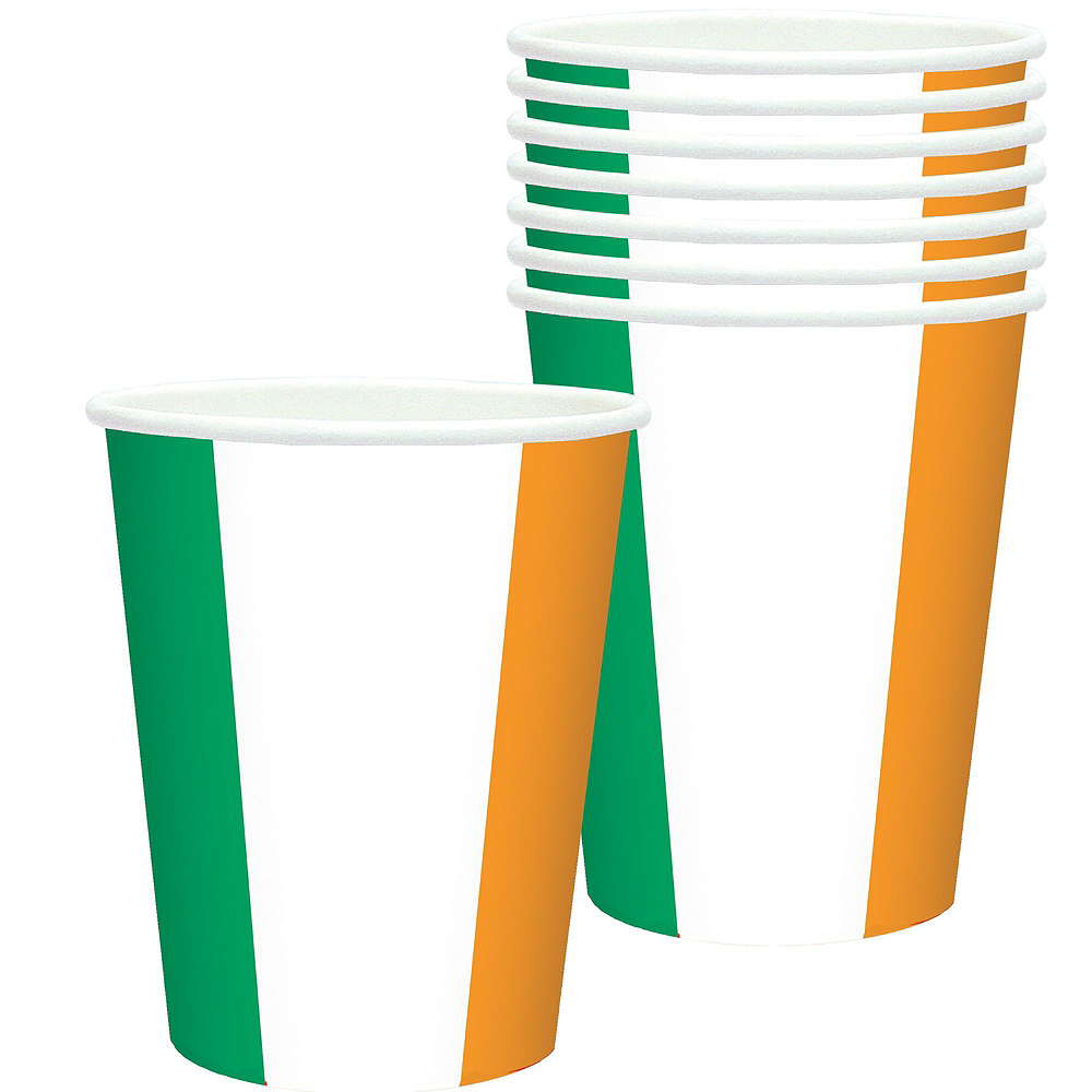 Green, White & Orange Tableware Kit for 16 Guests Image #6