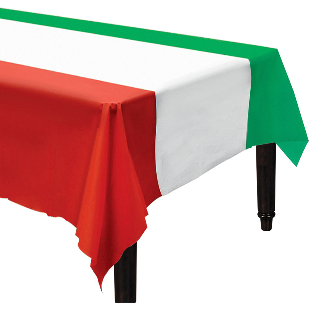 Red, White & Green Tableware Kit for 16 Guests Image #7