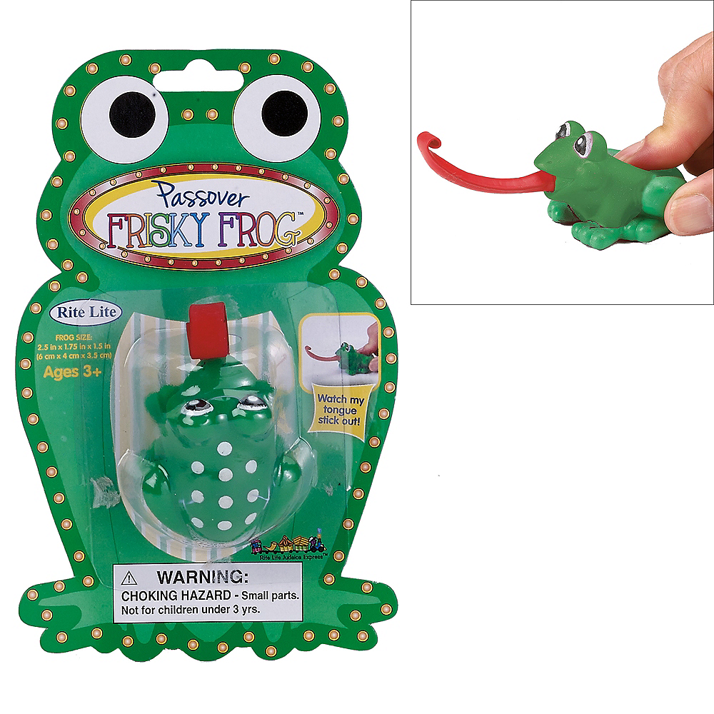 Passover Frog Toy 1 1/4in x 4 1/4in | Party City